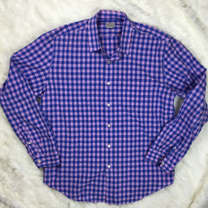 J.Crew Size XL Blue & Pink Plaid Button Down Shirt